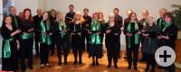 Chor der Städtischen Musikschule Horb am Neckar vorm Auftritt im Nordstetter Schloss im März 2018