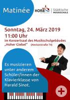 Plakat für Matinée im Hohen Giebel am Sonntag, 24.3.2019