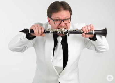 Laszlo Papesch, Klarinetten- und Saxophonlehrer an der Musikschule Horb