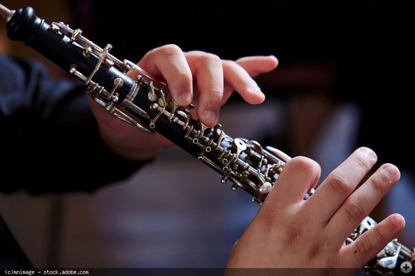 Oboenspieler (Instrument mit Händen sichtbar), © mnimage - stock.adobe.com