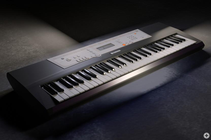 Keyboard (schwarz) auf Boden