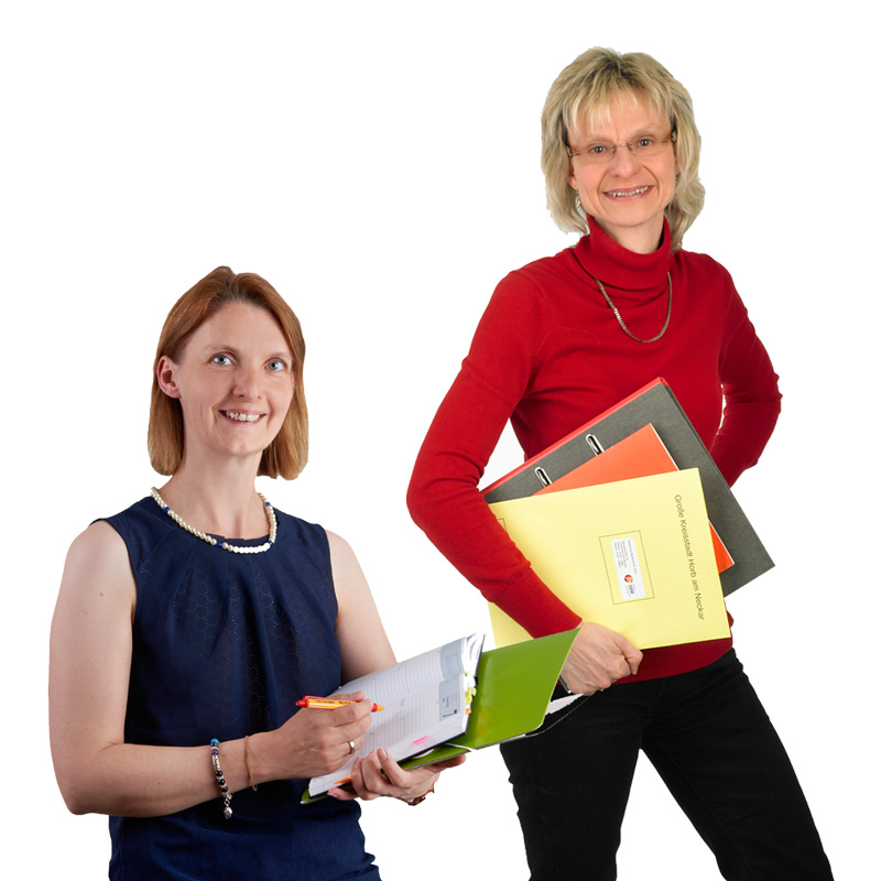 Die Damen vom Sekretariat der Städtischen Musikschule, Frau Seidt und Frau Walz