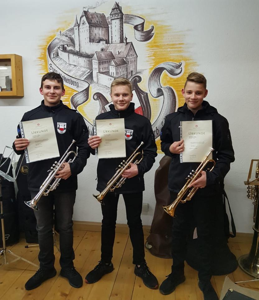 Trompetentrio, 2. Preis beim Regionalwettbewerb Jugend musiziert 2020
