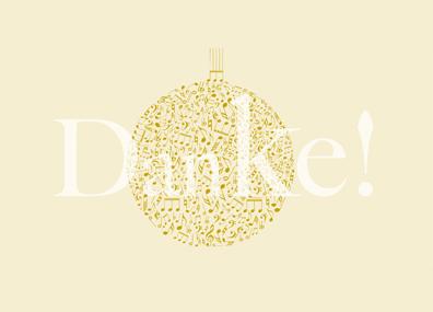 Weihnachtskarte 2020 der Städtischen Musikschule Horb am Neckar - klein